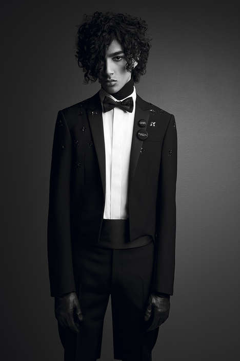 Rebellious Formal Wear - The Dior Homme 'Black Carpet' Collection Aims to Rework the Classic Suit