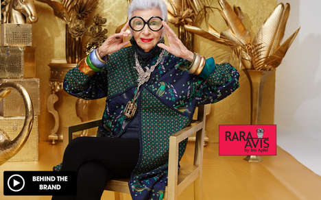 Eclectic Fashionista Furniture - Iris Apfel Created the 'Rara Avis' Furniture Collection for HSN