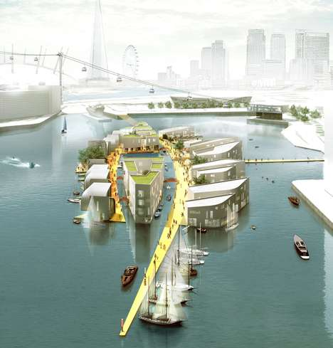 Conceptual Floating Cities - Baca Architects' Floating City Concept is an Overcrowding Solution