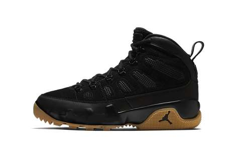 Stylish All-Black Basketball Sneakers