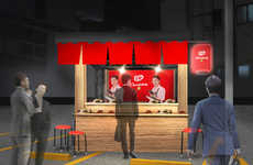 To-Go Chocolate Stands - The Kit Kat Chocolatory Yatai Offers Chocolate Bundles as Late-Night Snacks