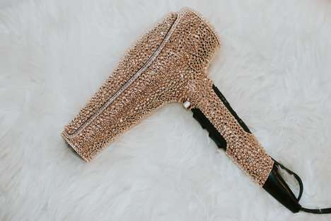 Crystal-Encrusted Hairdryers - Prête's Swarovski Crystal Hairdryer Costs $10,000 USD