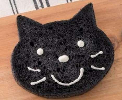 Sweet Cat-Shaped Bread Loaves