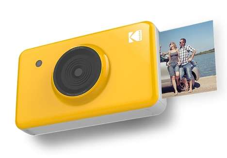Pocket-Sized Instant Cameras - The KODAK Mini Shot Prints Card-Sized Photos