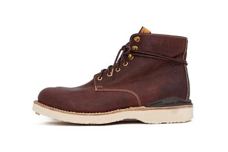 Kangaroo Leather Work Boots - visvim's 'VIRGIL BOOTS-FOLK' Received a Fresh Update for the Season