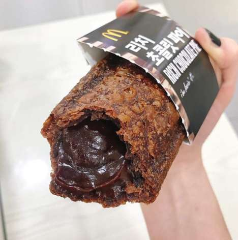 Molten Chocolate Pies - Mcdonald's Korea Introduced a Gooey Rich Chocolate Pie