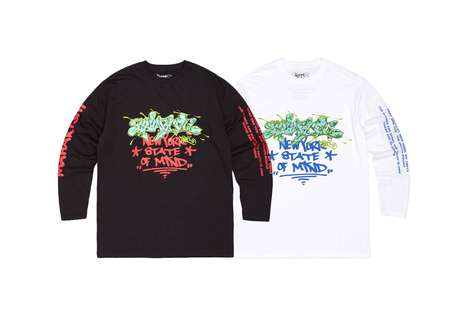 Exclusive Graffiti-Covered Shirts - PART ONE and maharishi Joined to Create Two Unique Designs