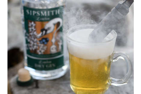 Cocktail-Heating Events - Sipsmith's 'Hot Gin Roof' Serves Warm Cocktails Heated by Fire Pokers