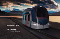 Rapid Interstate Transit Pods - The 'P-trak' Rapid Transit Concept Uses the Existing Highway System