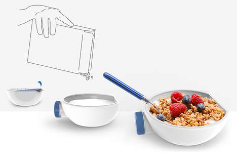 Cereal Bowl Milk Bottles