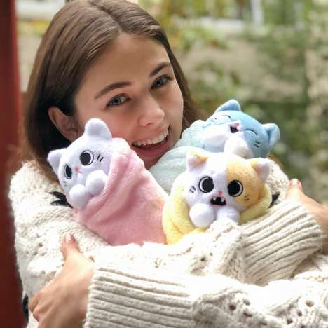 Wrapped Cat Plushies