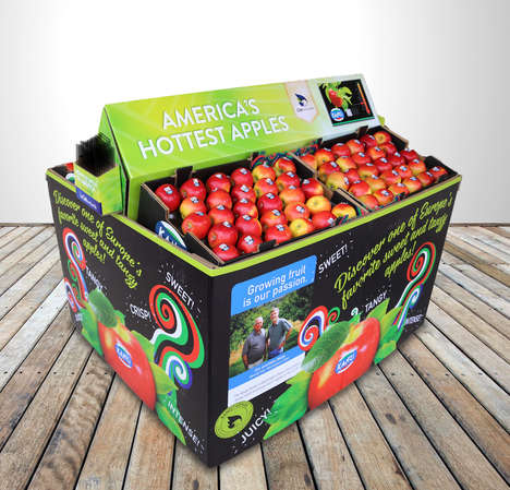 Instant Apple Displays - The 'Ship 'n' Shop' Display Comes with Produce and Sets Up in Minutes