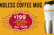 Unlimited Refill Coffee Mugs - The Au Bon Pain 2018 Endless Coffee Mug Offers Java All Year Long