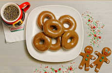 Gingerbread Glazed Donuts