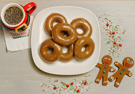 Gingerbread Glazed Donuts - Krispy Kreme Made a Special Donut for National Gingerbread House Day