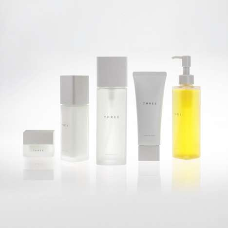Prismatic Skincare Collections - Tokujin Yoshioka Created the Cosmetic Product Packaging for THREE