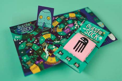 Board Game Sock Packaging - ööloom's Sock Package Transforms into the 'Quest for the Lost Sock'