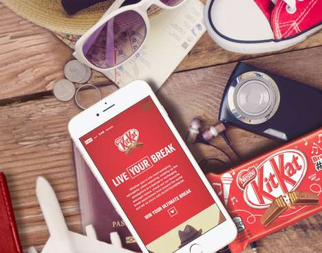 Adventurous Chocolate Campaigns - Kit Kat's 'Live Your Break' Targets the Millennial Traveler