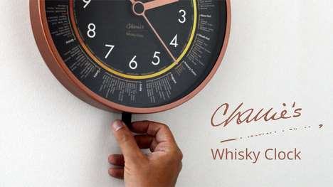 Tasting Note Clocks - 'Charlie's Whisky Clock' Features Notes from Whisky Expert Charles MacLean
