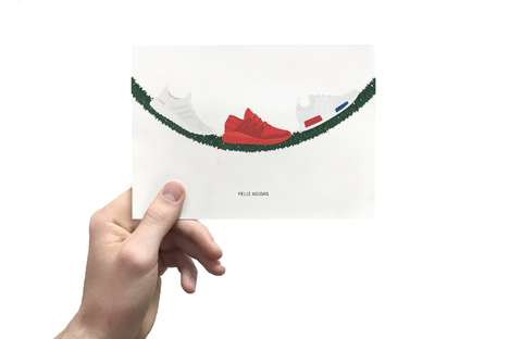 Humorous Shoe-Themed Holiday Cards