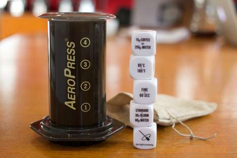 Coffee-Themed Dice Sets - The 'Coffee Brewing Dice' Helps to Craft Specific AeroPress Recipes