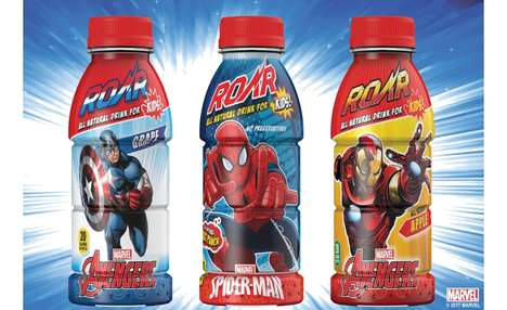 Superhero-Branded Hydration Beverages