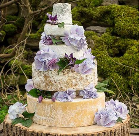 Cheese Wheel Wedding Cakes