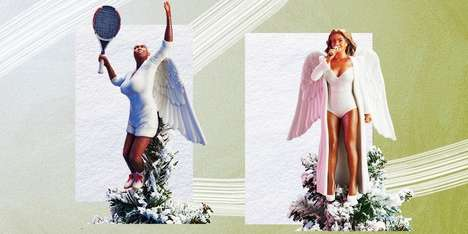 Empowering Celebrity Tree Toppers - Women To Look Up To Transformed Powerful Women into Tree Toppers