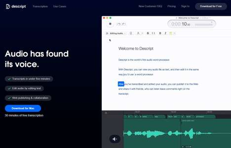 Text-Based Audio Editors