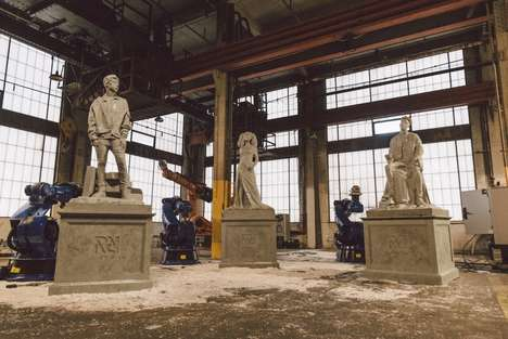 Hip Hop Artist Statues - These Spotify Statues are on Display at the 'RapCaviar Pantheon'