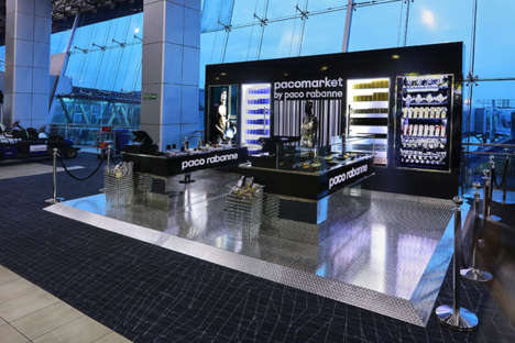 Airport Perfume Installations - The Paco Market is Enticing Travelers with a Selfie Station