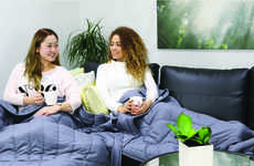 Anxiety-Alleviating Bedding - The 'Alpha' Weighted Blanket Provides Natural Pressure Stimulation