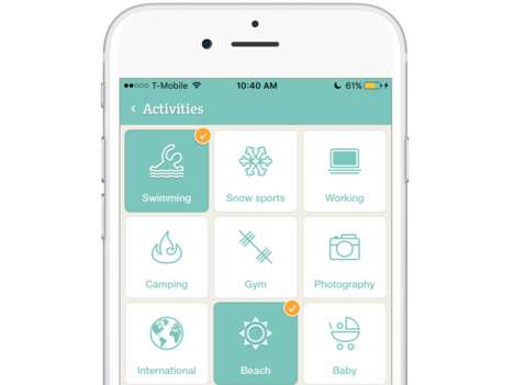 Insightful Packing Assistance Apps - PackPoint Helps Users Find the Best Items to Bring for a Trip