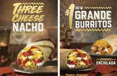 Premium Inexpensive Burrito Meals - The New Taco Bell Grande Burritos Cost Just $1 Each