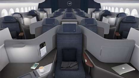 Suite-Like Airplane Cabins - PearsonLloyd Has Created a New Cabin Design for Lufthansa