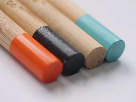 Stylish Bamboo Toothbrushes