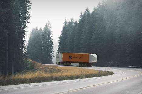 Drag-Reducing Shipping Truck Tails