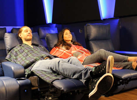 Cozy Theater Seat Covers - The 'Movie Blankie' is Comfy and Protects You from Dirty Chairs