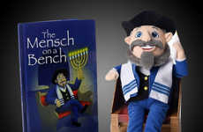 Educational Hanukkah Plush Toys - The 'Mensch on a Bench' Teaches Children About Holiday Tradition