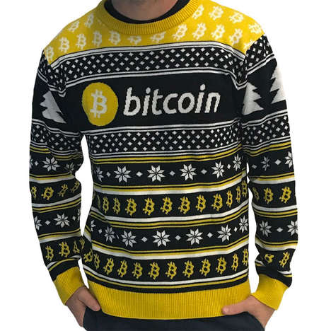Digital Currency Christmas Clothing - The HODLMOON Cryptocurrency Ugly Sweaters Come in Three Styles