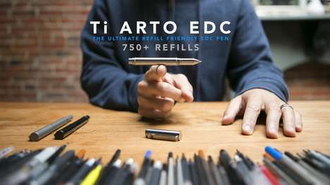 The 'Ti Arto EDC' Refillable Pen is Compatible with Over 700 Refills