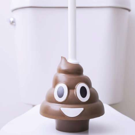 Emoji-Shaped Plungers - Squatty Potty's 'Poop Emoji Plunger' Boasts a Humorous Aesthetic