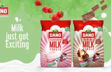 Nutritious Flavored Milk Powders - Dano Flavoured Milk Now Comes in Chocolate and Strawberry Flavors
