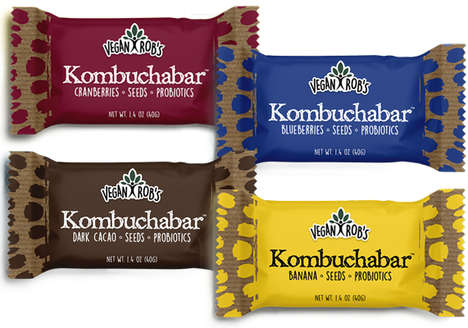 Kombucha Snack Bars - Vegan Rob's 'Kombuchabar' Blends Fruit, Seeds, Syrup and Kombucha