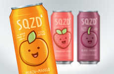 Conceptual Fruit Juice Cans