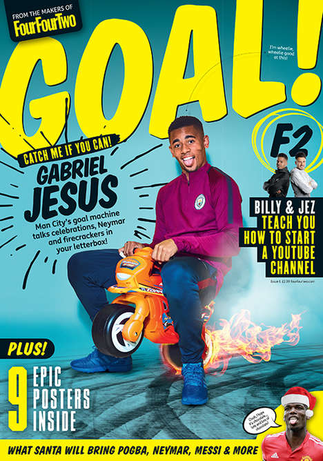 Football-Focused Gen Z Magazines - 'GOAL!' is a Football Magazine for Kids Ages Seven to 11