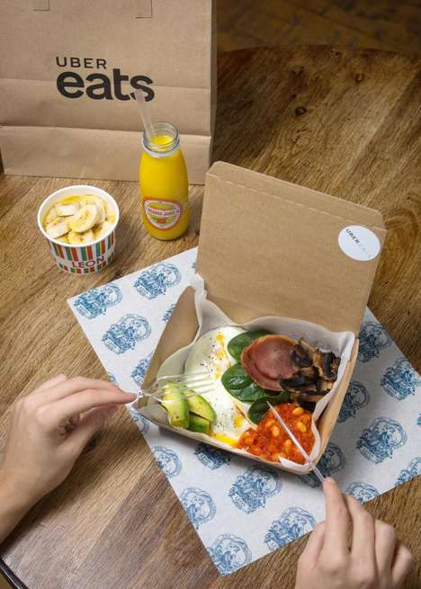 Hangover Breakfast Boxes - UberEats' 'Fix Up Feast' is Being Touted as Holiday Hangover Remedy