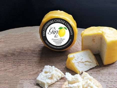 Gin-Flavored Cheeses - The Cheshire Cheese Company Makes 'Gin and Lemon Cheshire Cheese'