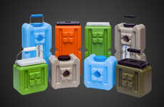 Stackable Emergency Sustenance Containers - The 'WaterBrick' Water and Food Storage Units are Handy