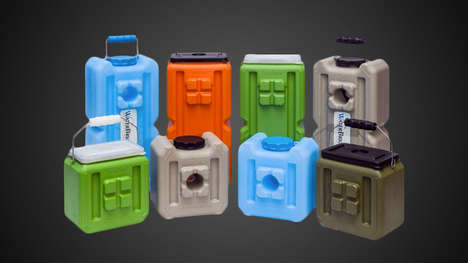 Stackable Emergency Sustenance Containers